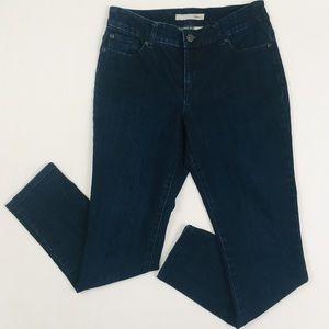 Chico's 0.5 Platinum Denim Ultra Slim Leg Jeans